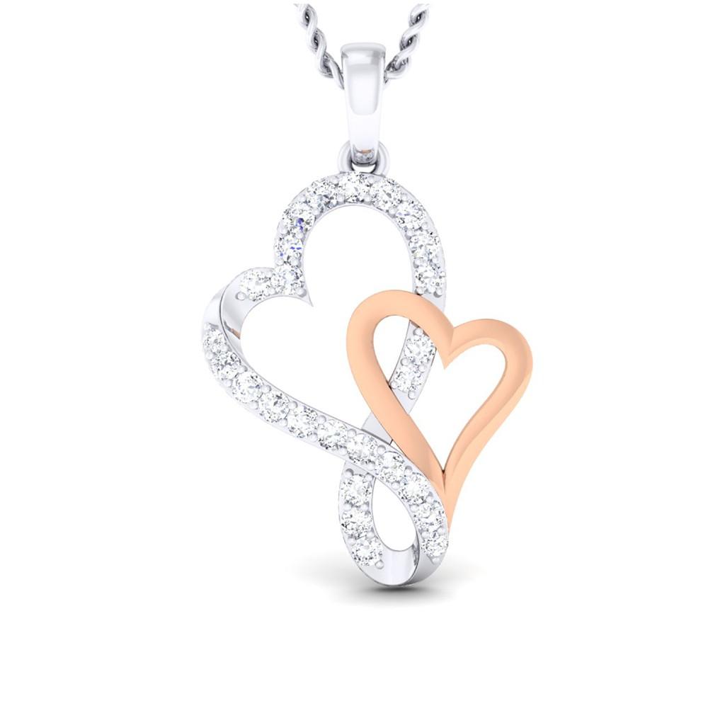 The Stylish Heart Pendant Diamond Jewellery At Best