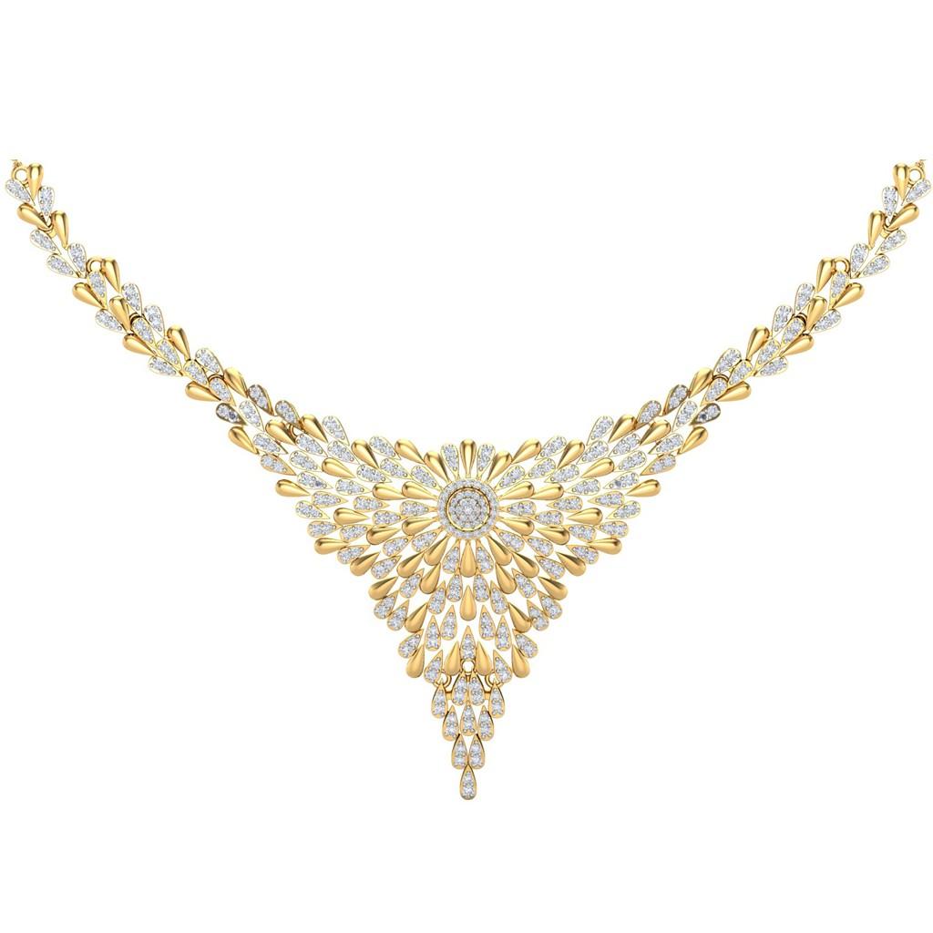 The Celine Diamond Necklace Diamond Jewellery At Best