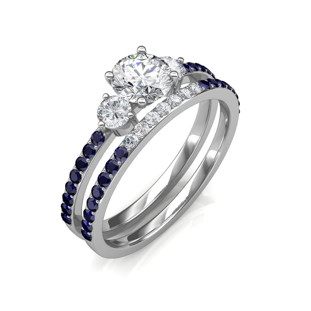 0 81 Carat 18k White Gold Athena Engagement Ring And