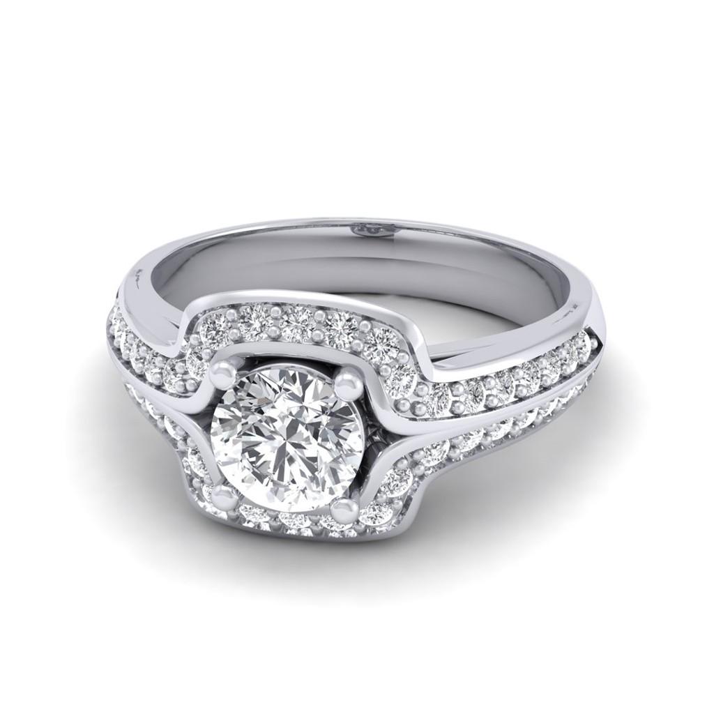 Gold Wedding Ring Price: 0.60 Carat 18K White Gold