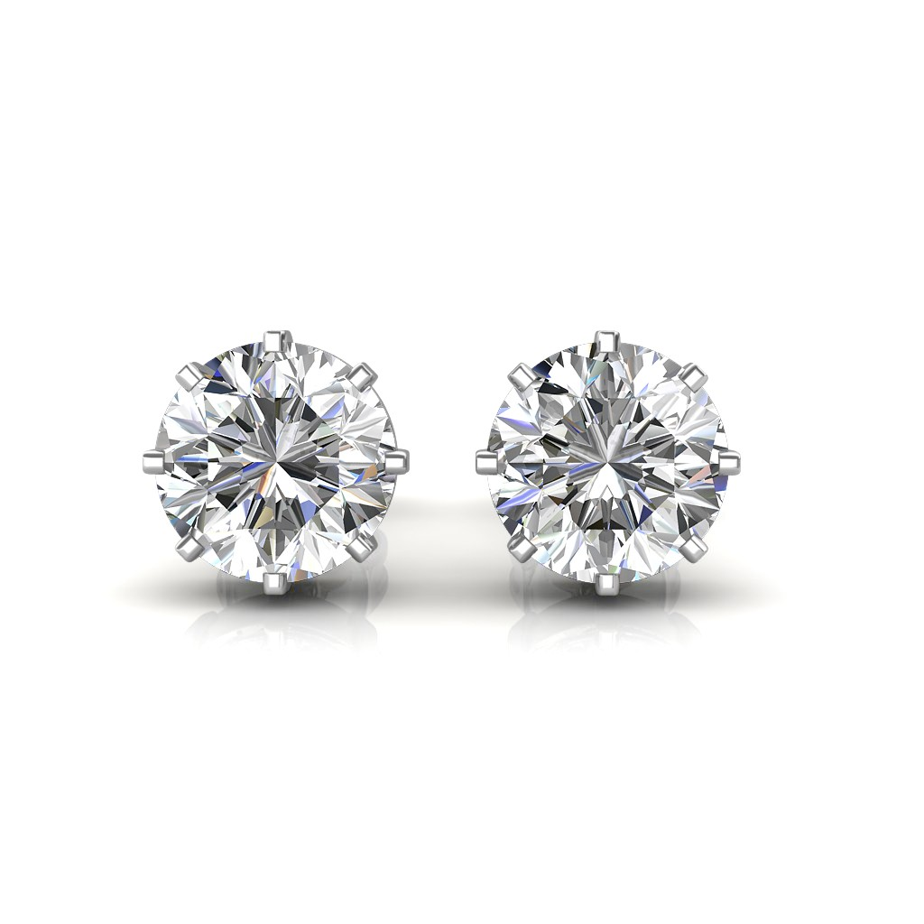 The Classic Solitaire Stud Earrings Solitaire Diamond