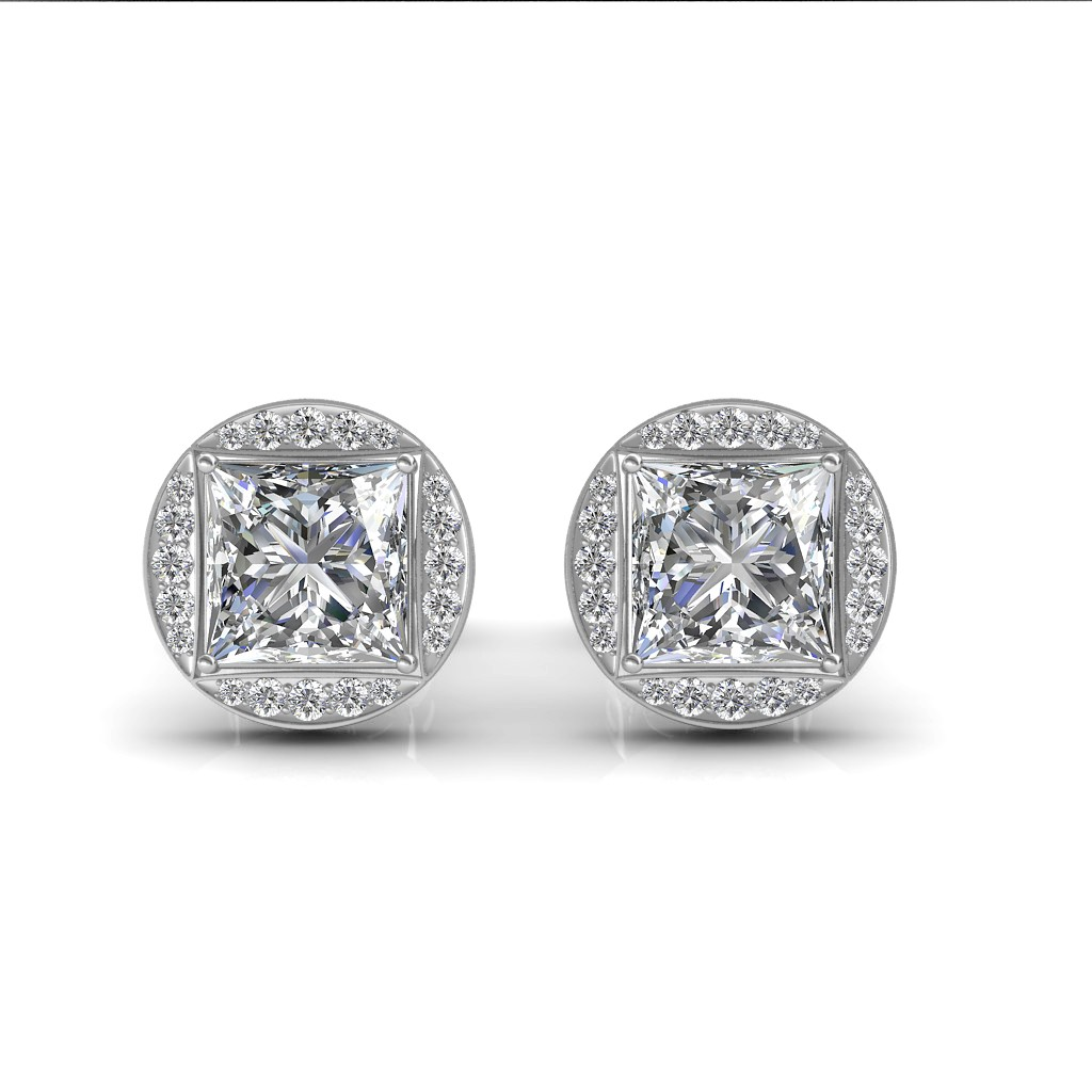 The Aava Solitaire Earrings Diamond At Best Prices In India Sarvadajewels