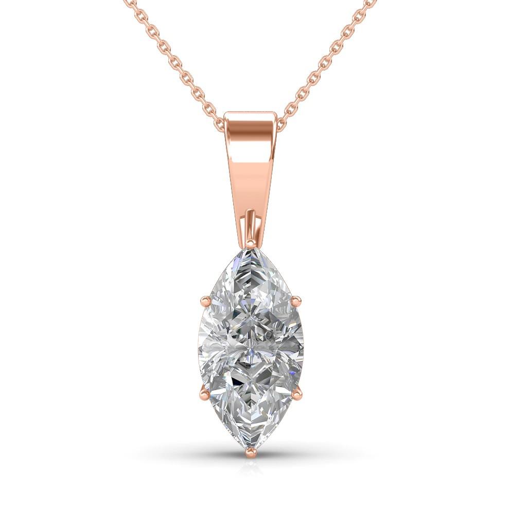 The Eternity Marquise Pendant Solitaire Diamond Pendant