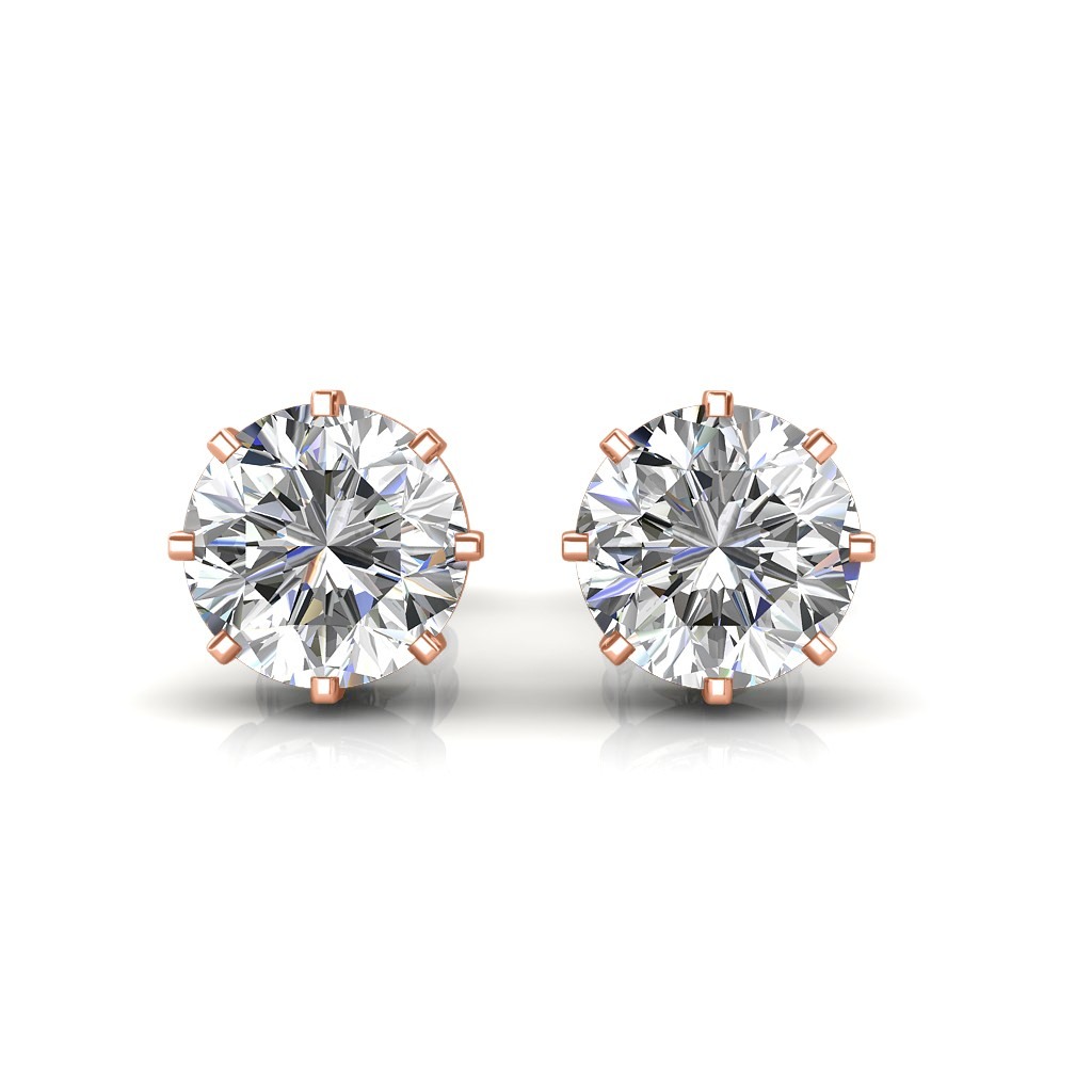 The Clic Solitaire Stud Earrings Diamond At Best Prices In India Sarvadajewels