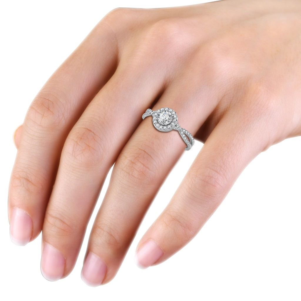 0.95 carat Platinum - Zara Engagement Ring - Engagement Rings at ...