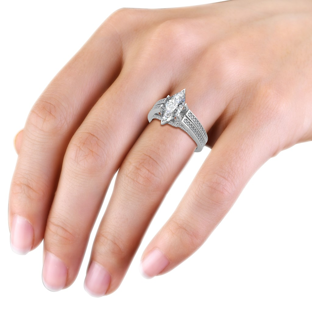 The Extraordinaire Marquise Ring - Solitaire Diamond Rings at Best ...