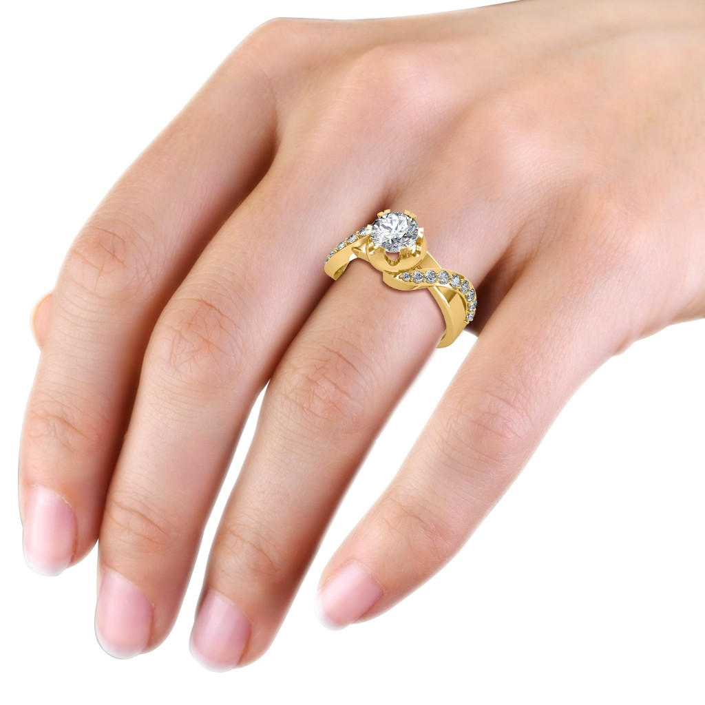 The Entwined Band Solitaire Ring - Solitaire Diamond Rings at Best ...
