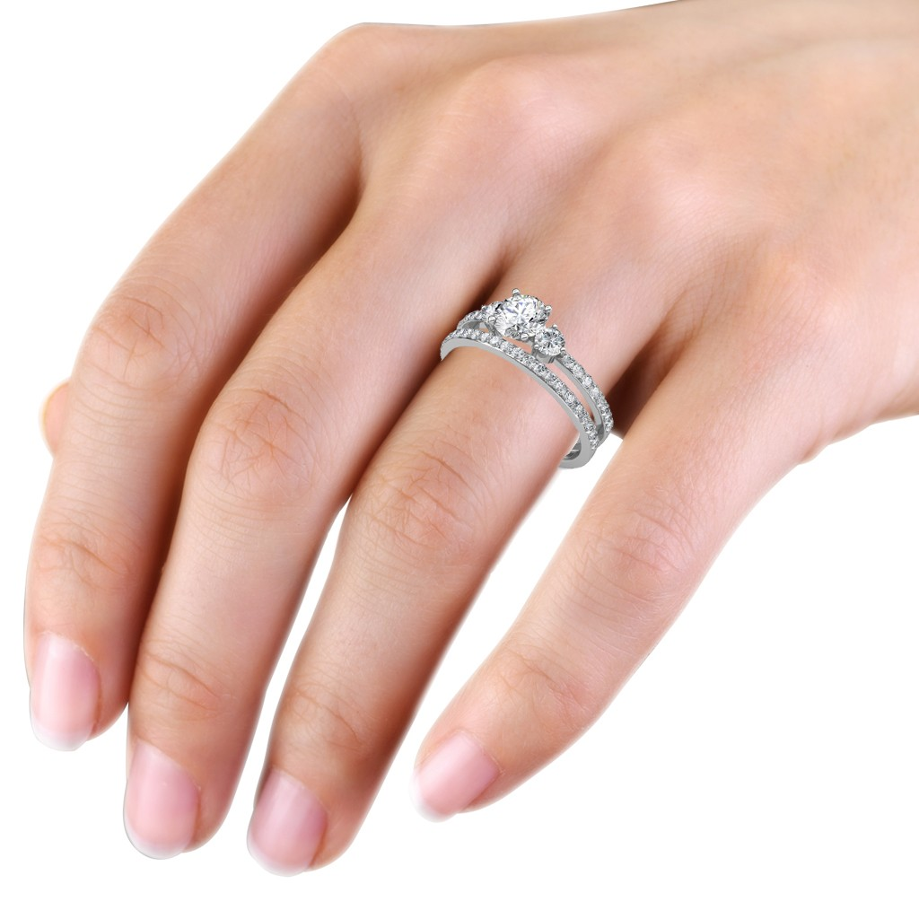 The Sylvia Engagement Ring And Wedding Band at Best Prices in India ...
