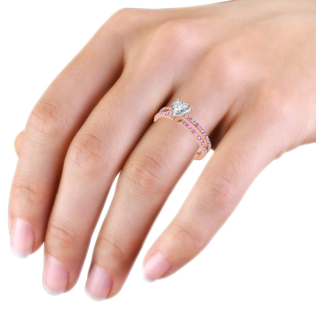 The Carmine Engagement Ring And Wedding Band at Best Prices in India ...