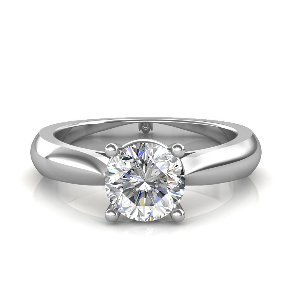 Gold Wedding Ring Price: 0.30 Carat 18K White Gold