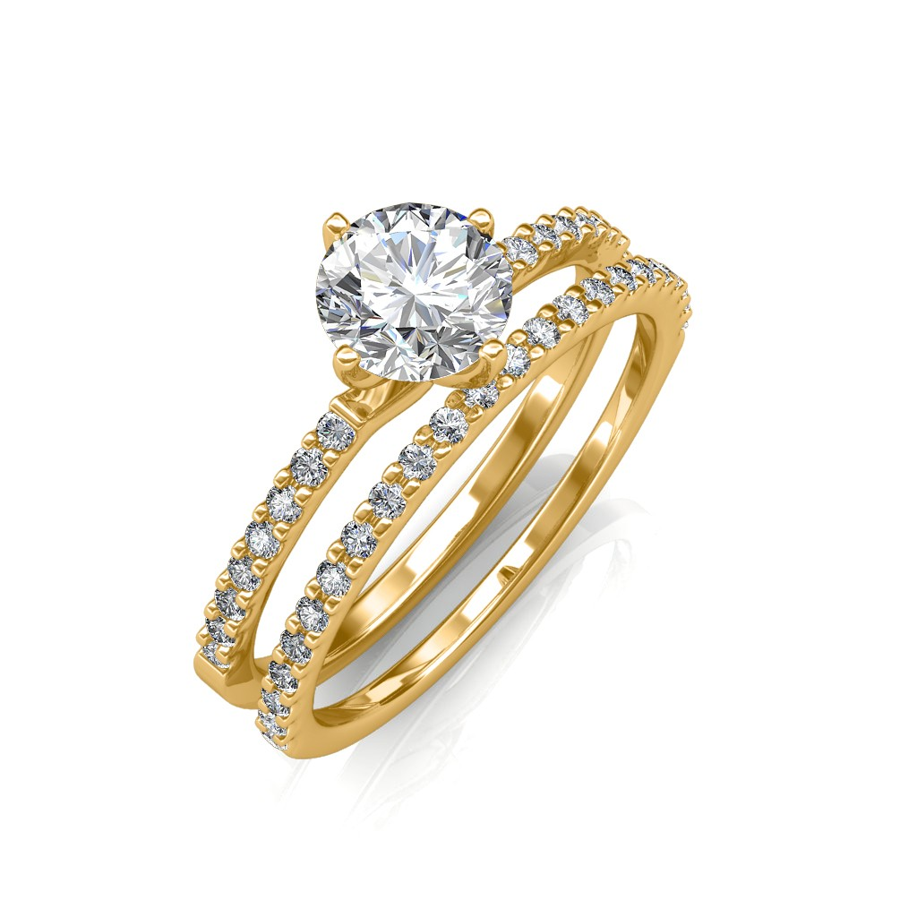 engagement ring amp wedding band solitaire diamond rings