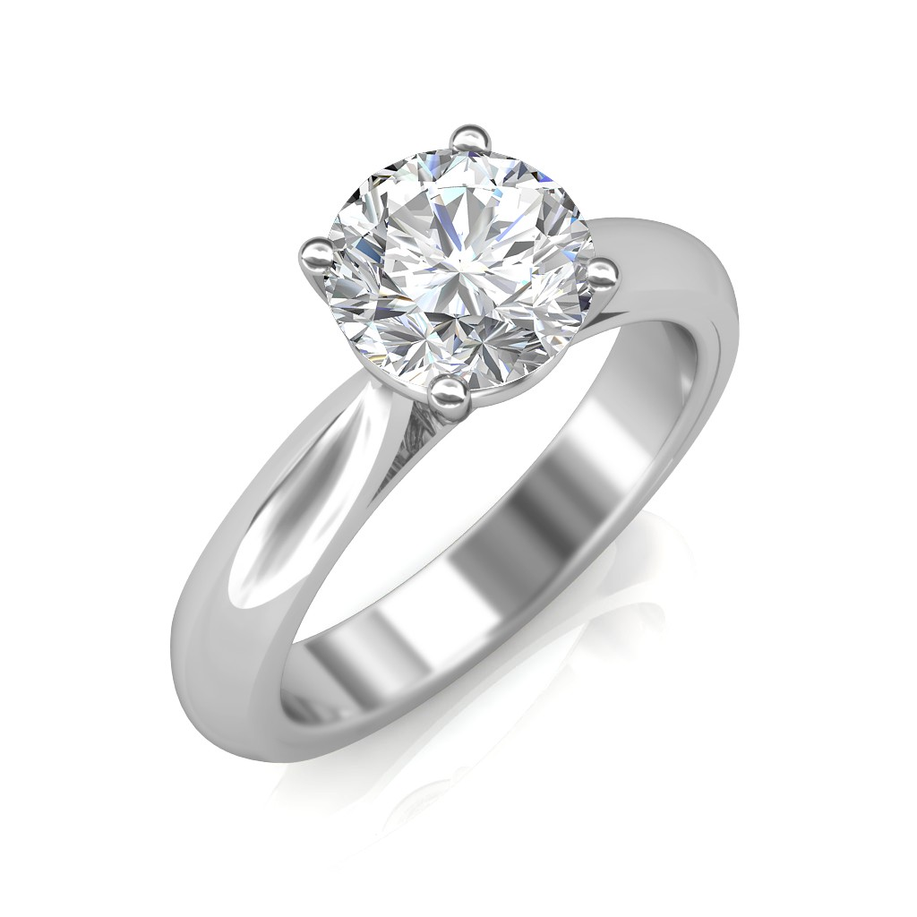 Gold Wedding Ring Price: 1.00 Carat 18K White Gold