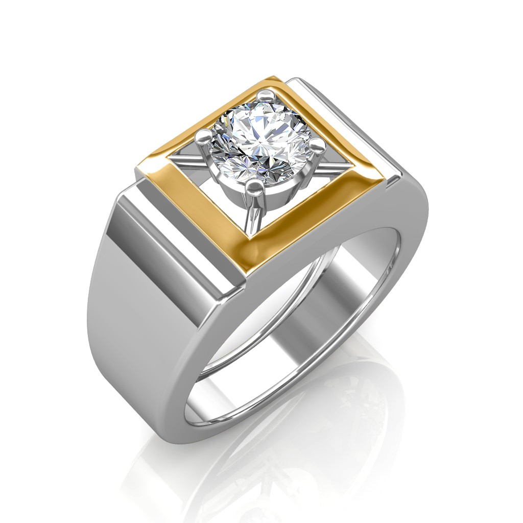The Arthur Solitaire Ring For Him Solitaire Diamond