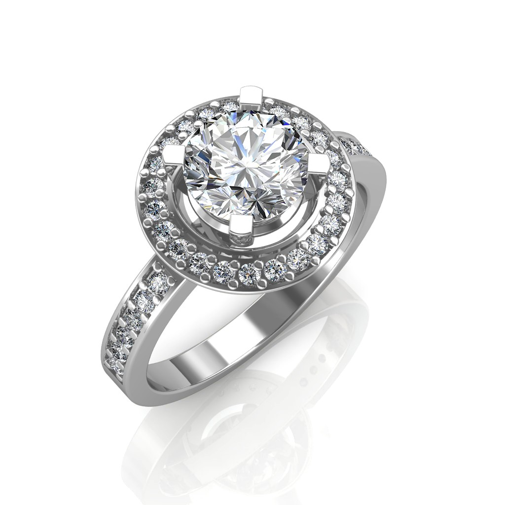 The Single Halo Ring Solitaire Diamond Rings At Best