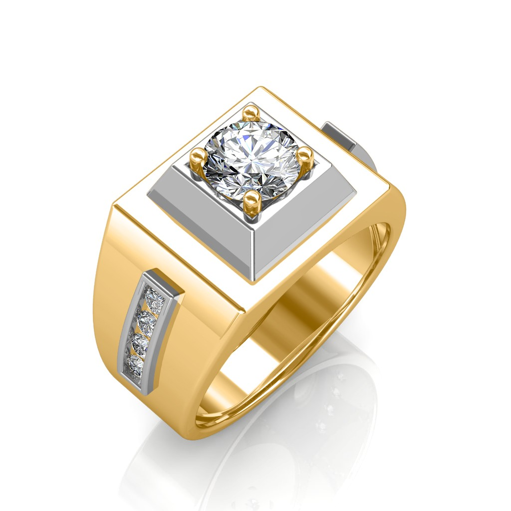 The Khufu Solitaire Ring For Him Solitaire Diamond Rings