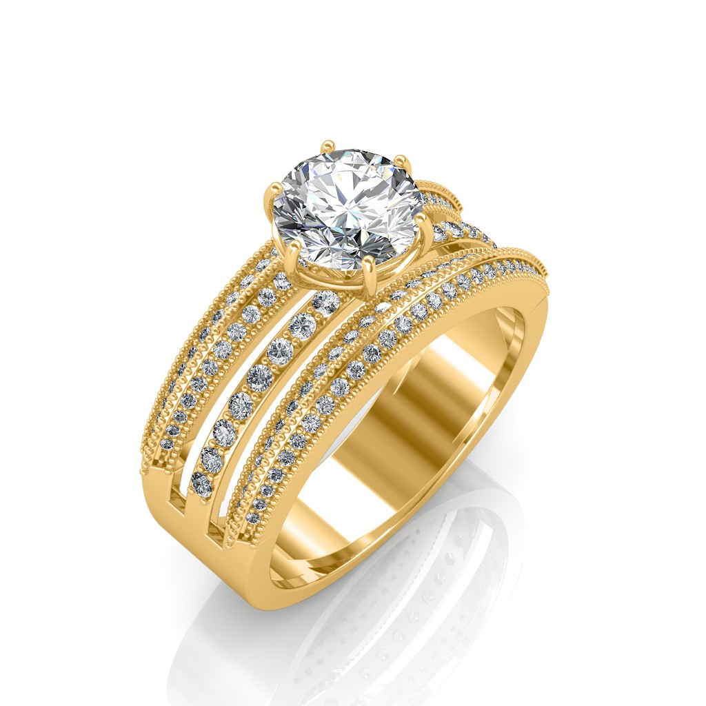 The Aurora Solitaire Ring Solitaire Diamond Rings At