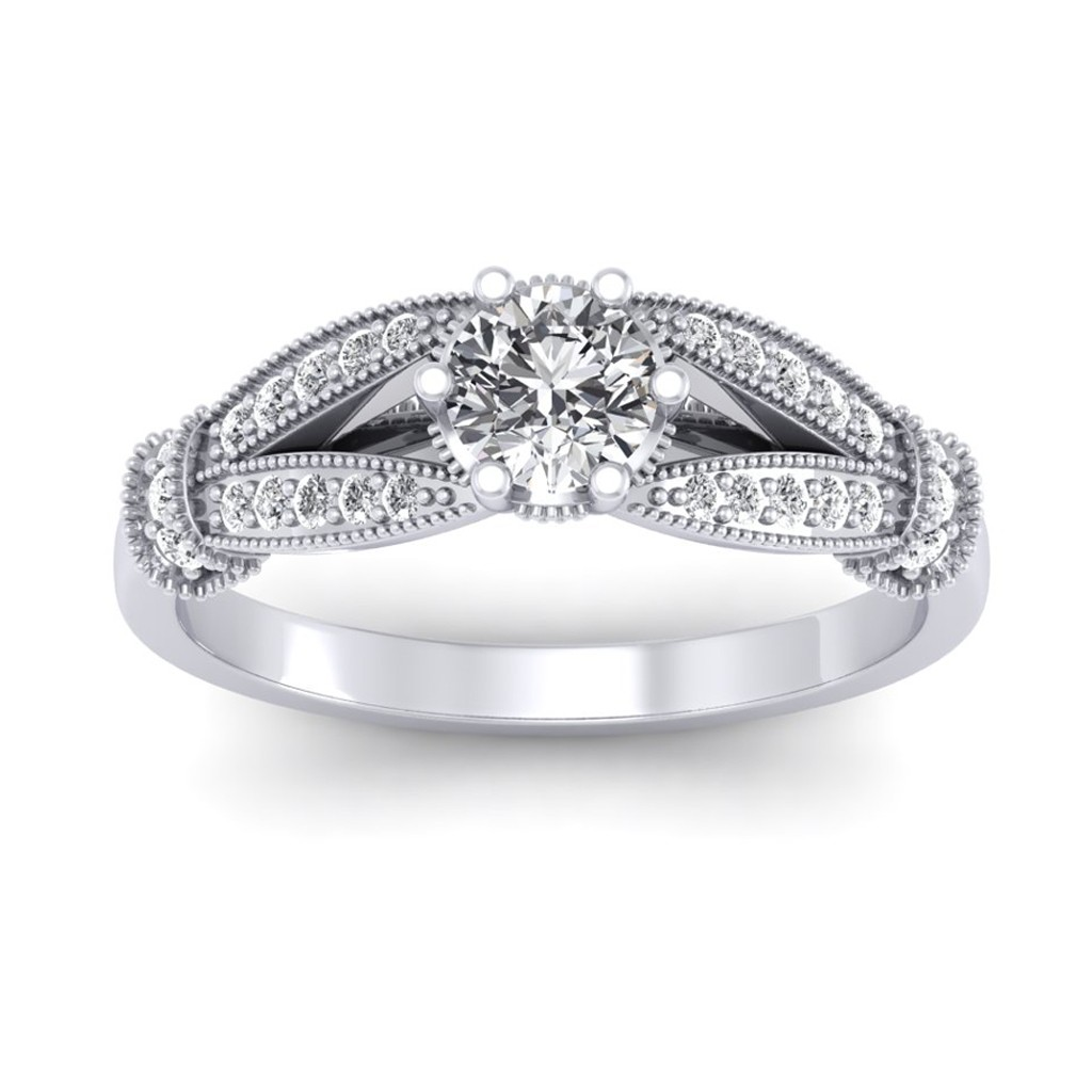 1.21 carat 18K White Gold - Nelly Engagement Ring