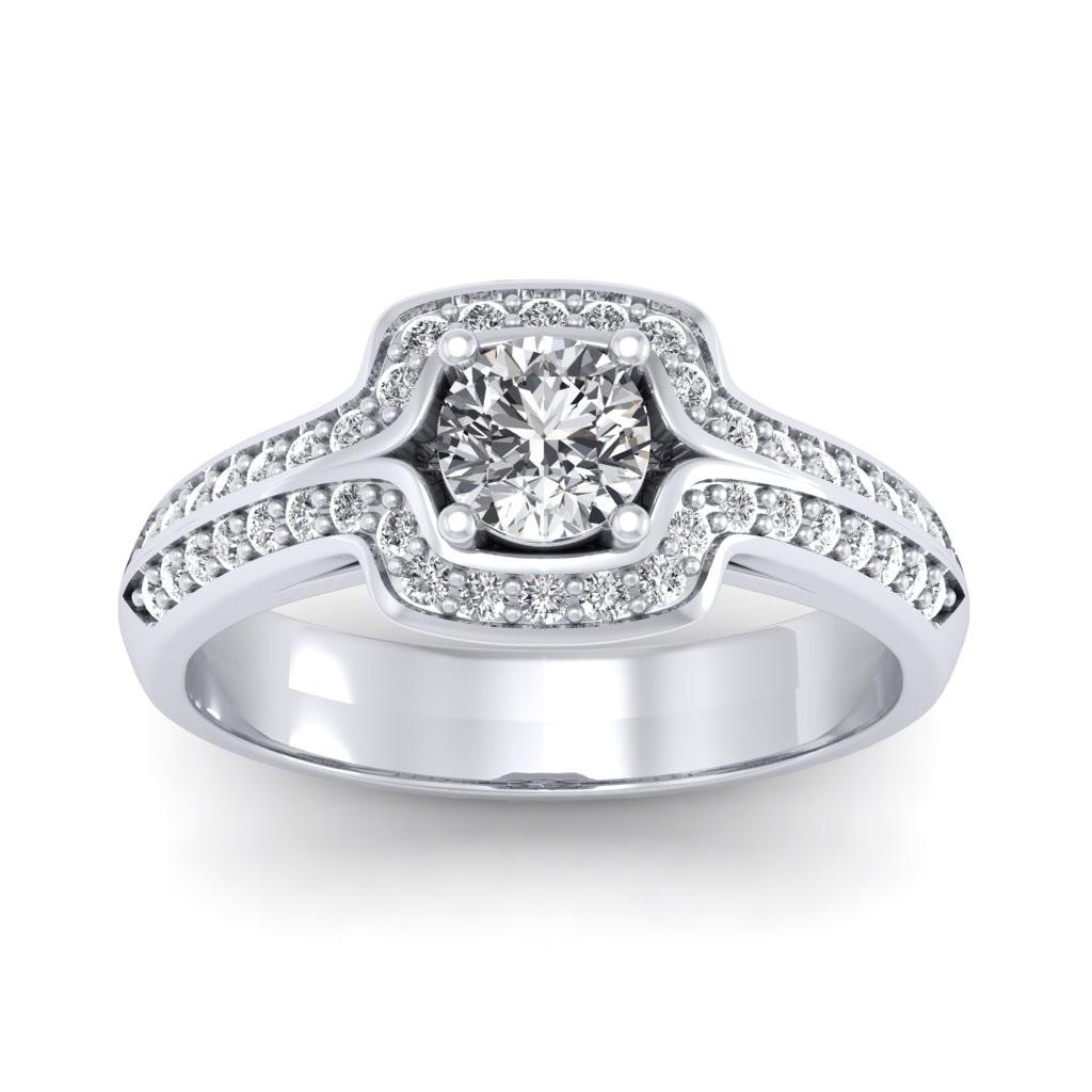 1.30 carat 18K White Gold - Amanda Engagement Ring