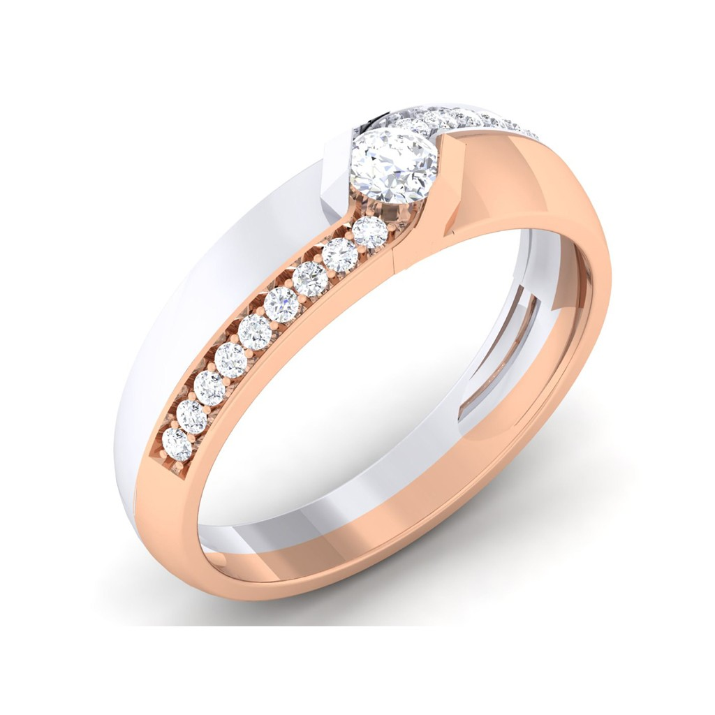 0.47 carat 18K White & Rose Gold - Scarlett Engagement Ring
