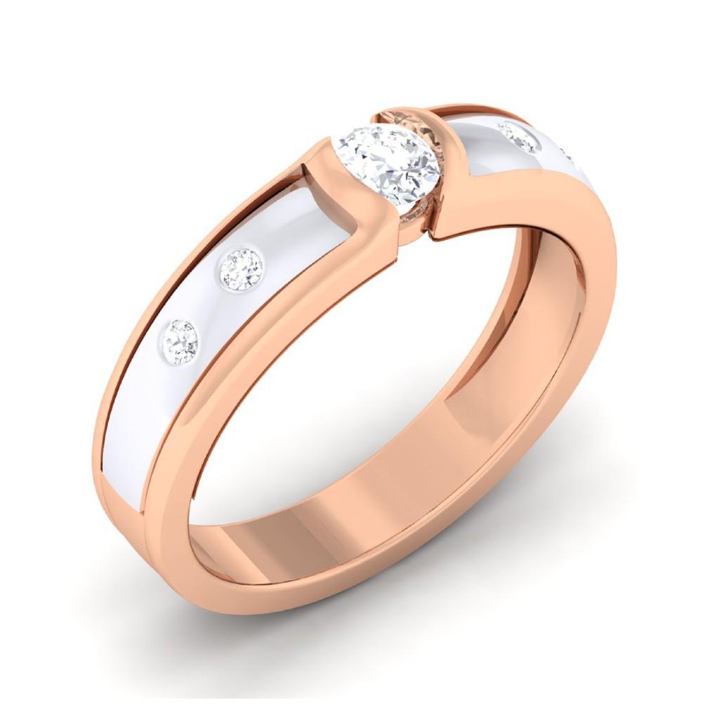 0.24 carat 18K White & Rose Gold - Renee Engagement Ring