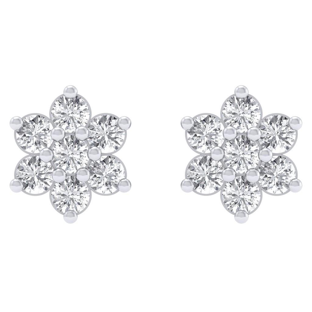 The Diamond Cluster Earrings