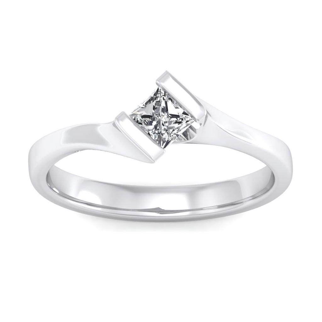 The Elegant Princess Solitaire Ring