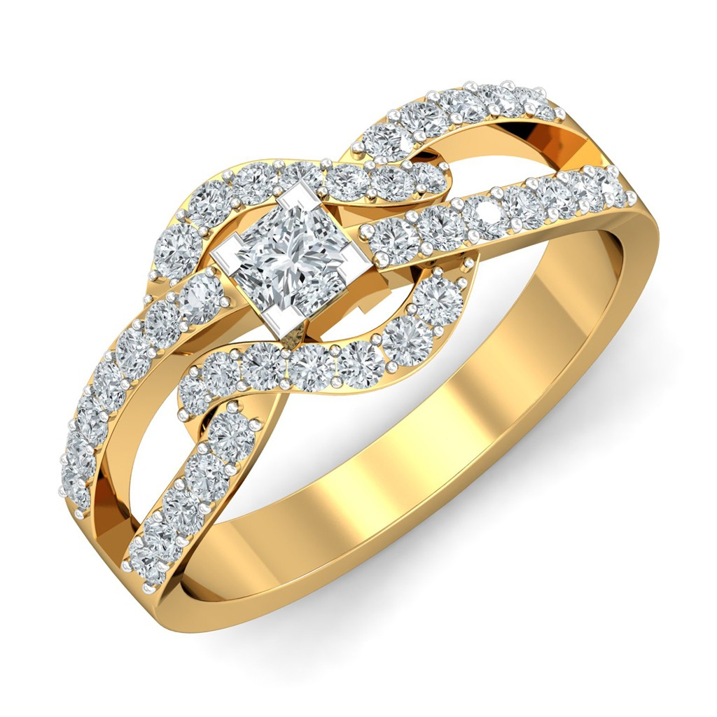 0.82 carat 18K Yellow Gold - Levita Princess Engagement Ring
