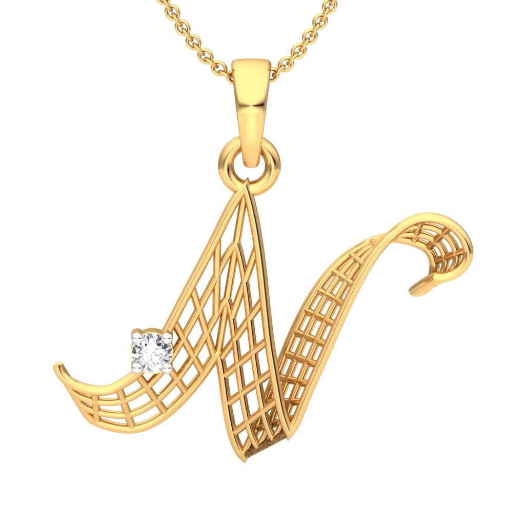 The n alphabet pendant diamond jewellery at best prices in the n alphabet pendant mozeypictures Images