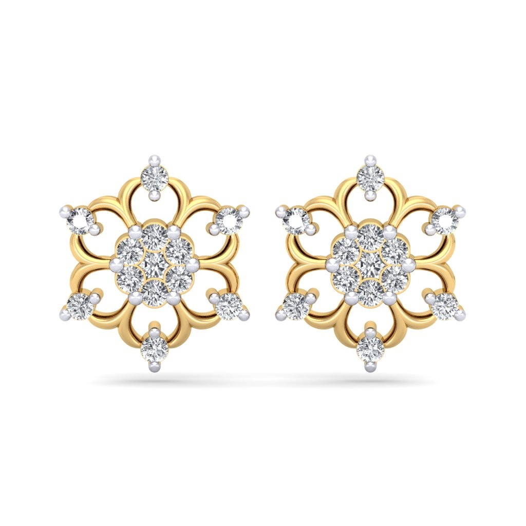 The Floral Sparkle Diamond Earrings