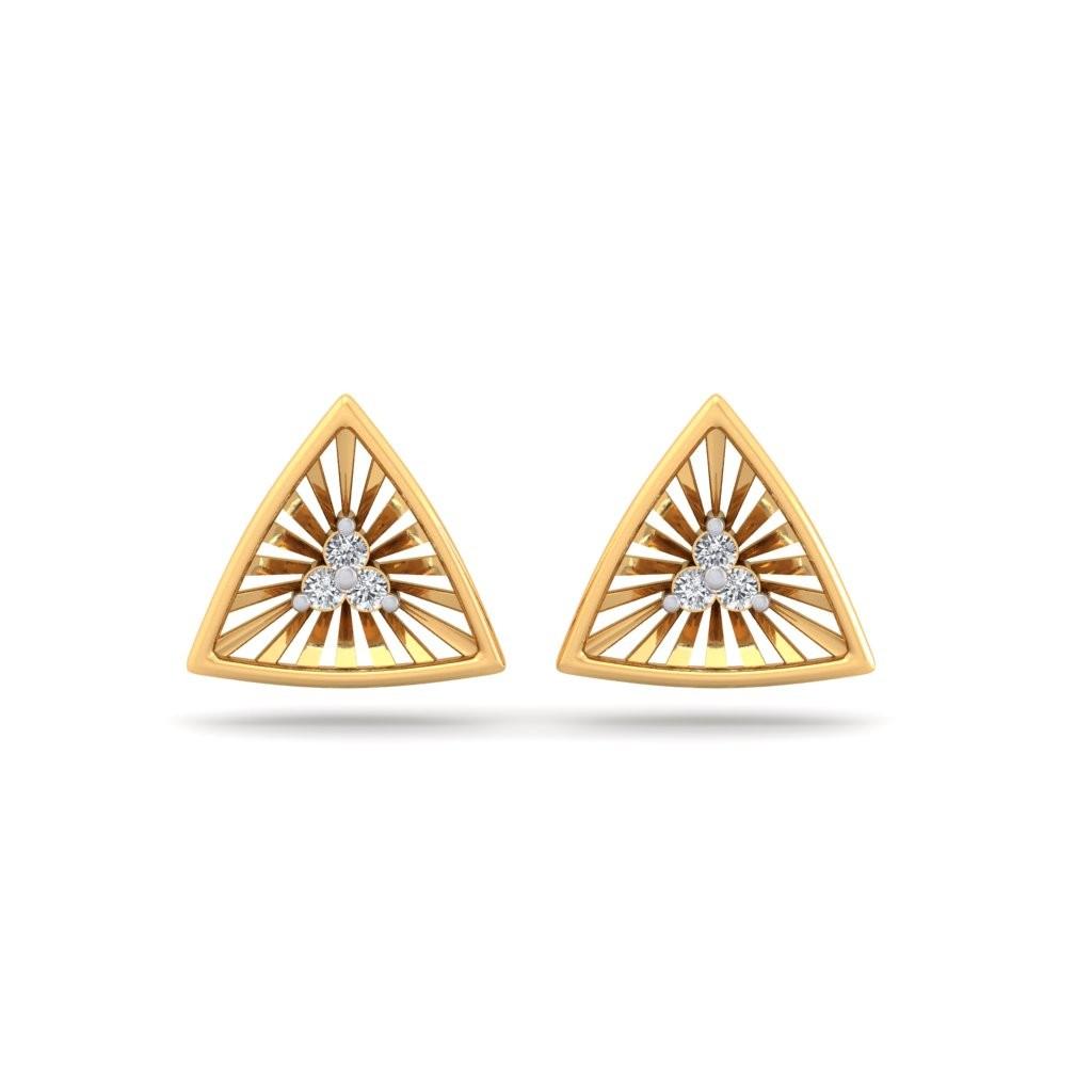 The Nova Triangle Diamond Earrings