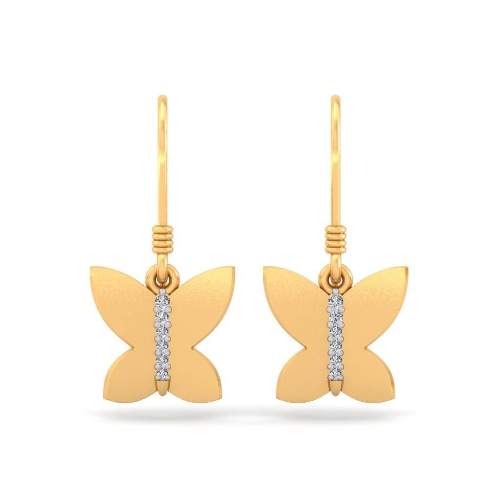 The Kaitlyn Butterfly Diamond Earrings
