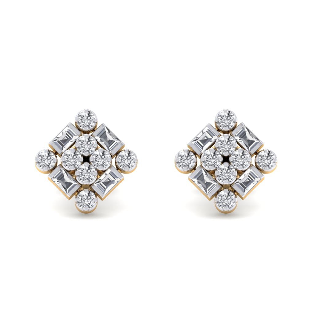 Square Diamond Earring