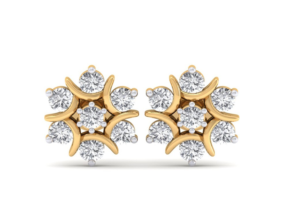 The Nova Naksh Earrings 3 Cent Diamonds Diamond Jewellery At Best Prices In India Sarvadajewels
