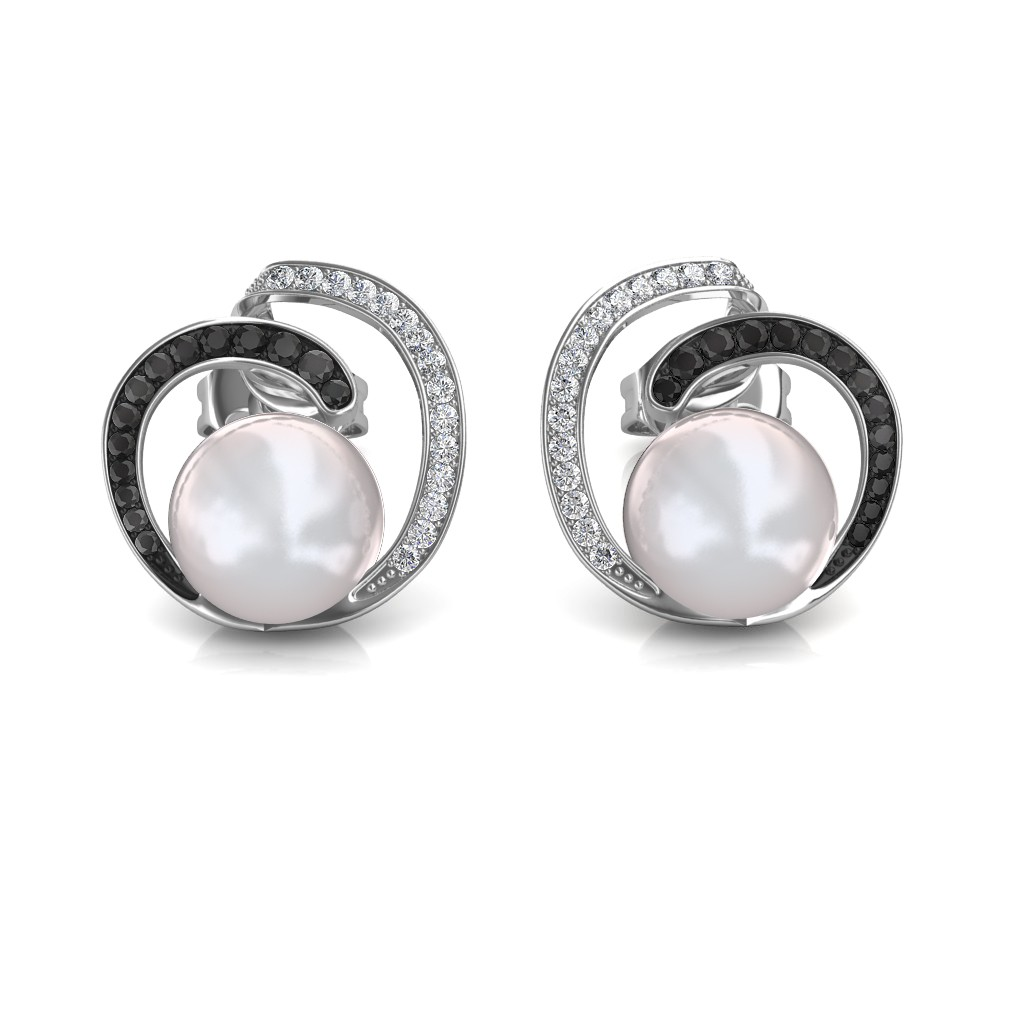 The Lucy Black Diamond Earrings