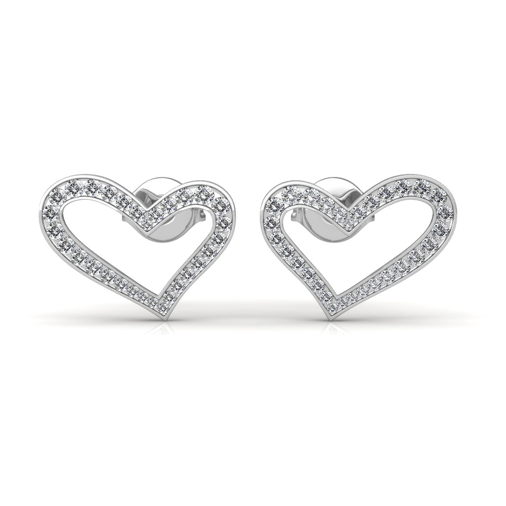 The Eva Heart Earrings