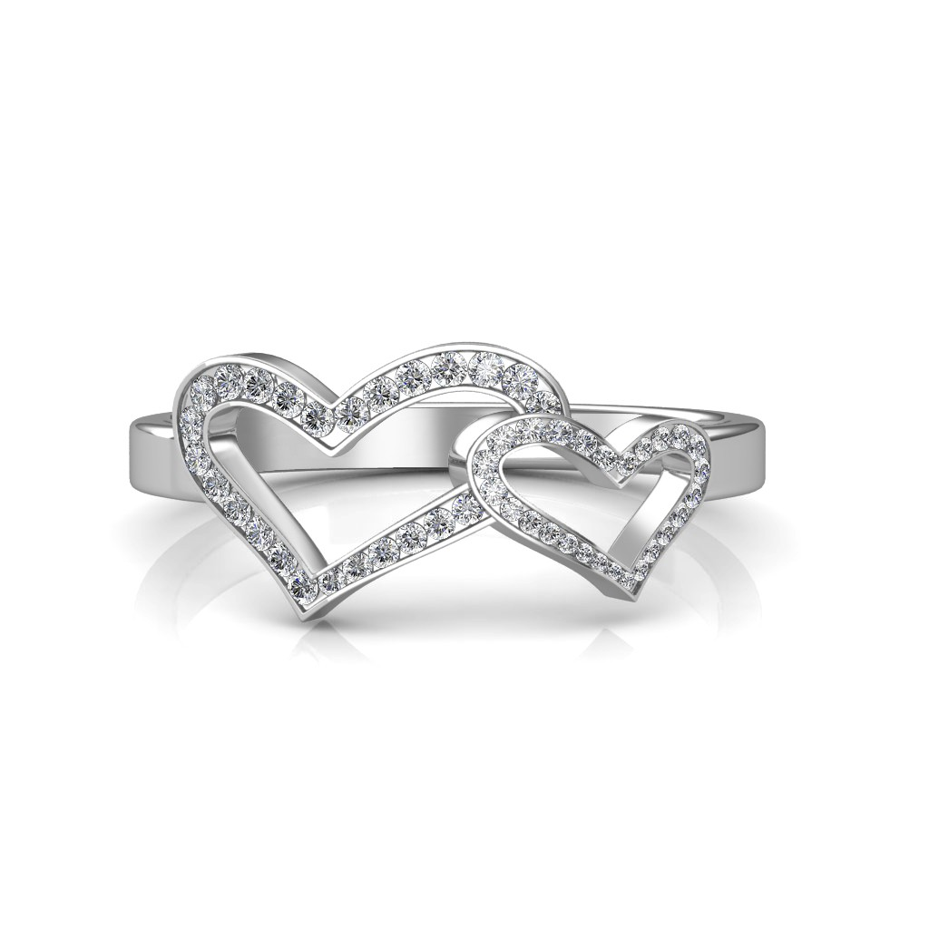 band shaped two london shape by diamond eternity heart