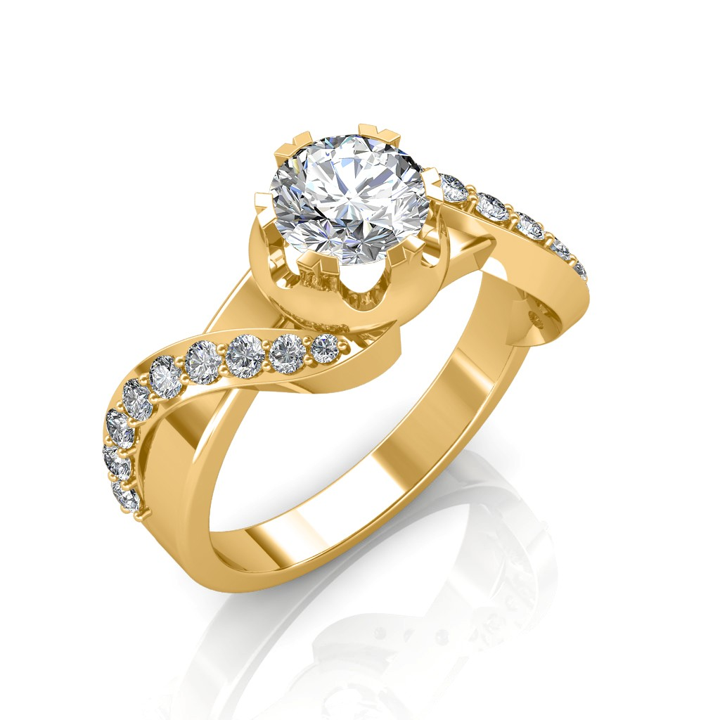 The Entwined Band Solitaire Ring Solitaire Diamond Rings At Best