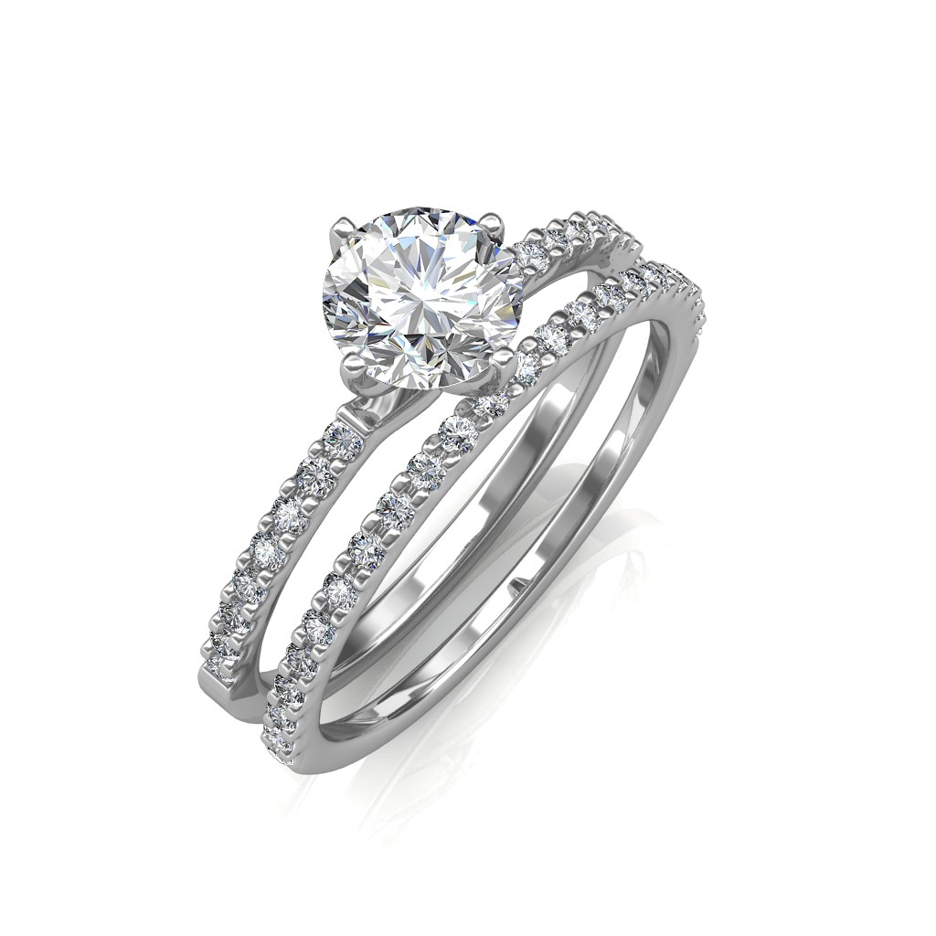solitaire diamond rings white gold ring collection image