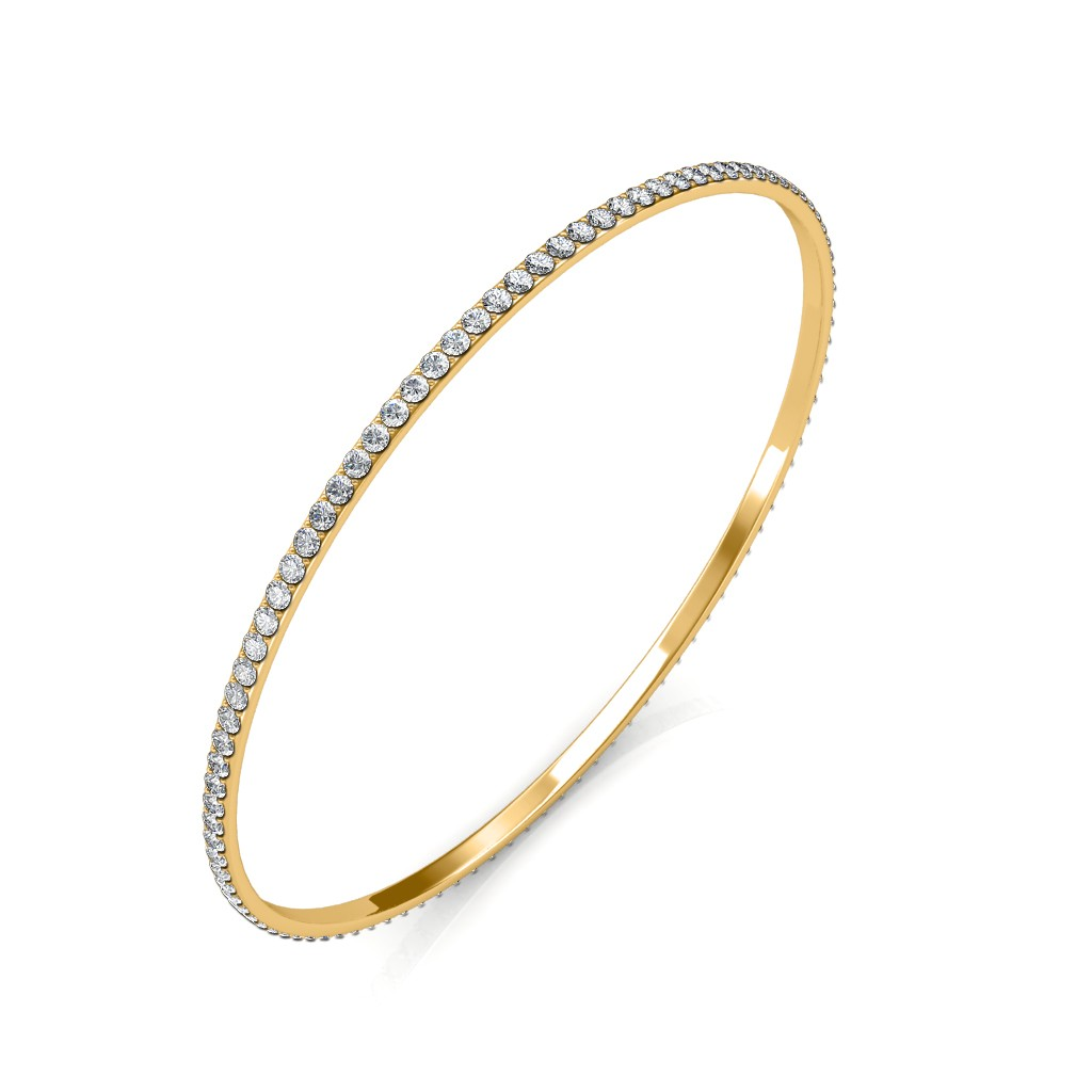 watch design line single diamond youtube bangle bracelet