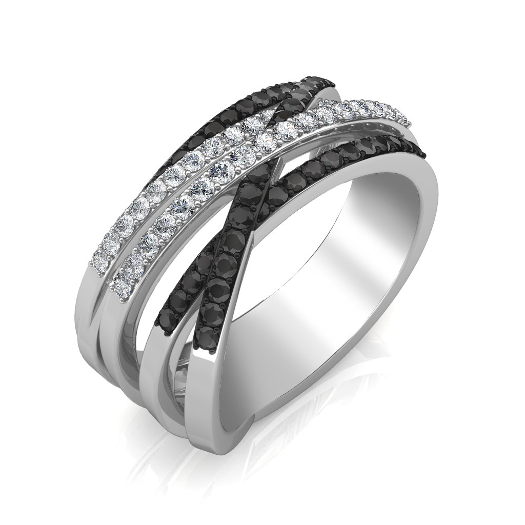 The Loren Black Diamond Ring Jewellery At Best Prices In India Sarvadajewels