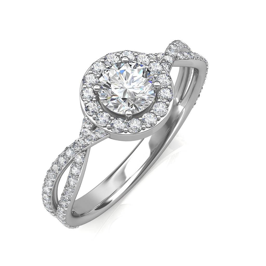 thin gold rings stone rose pave ring radiant engagement cut diamond moissanite promise