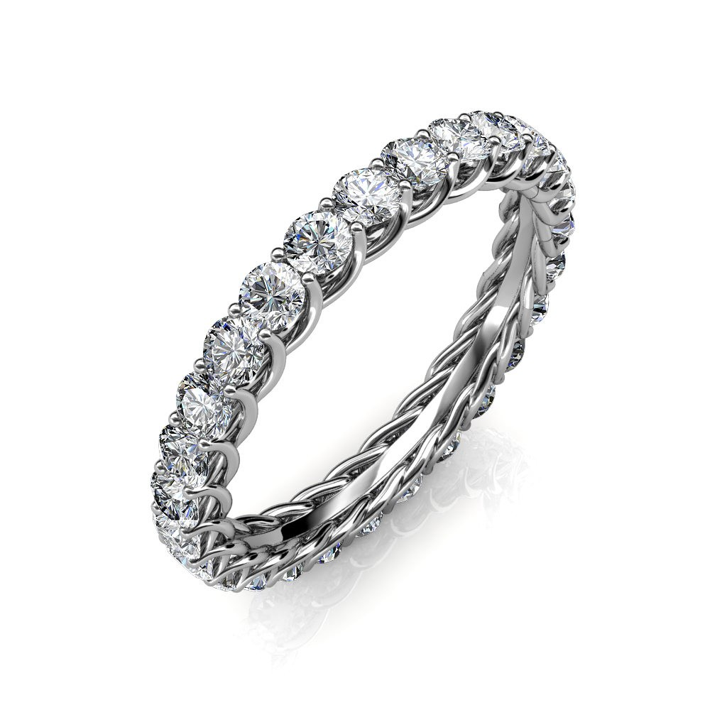 Astraea White Gold Full Eternity Ring - 5 cent diamonds