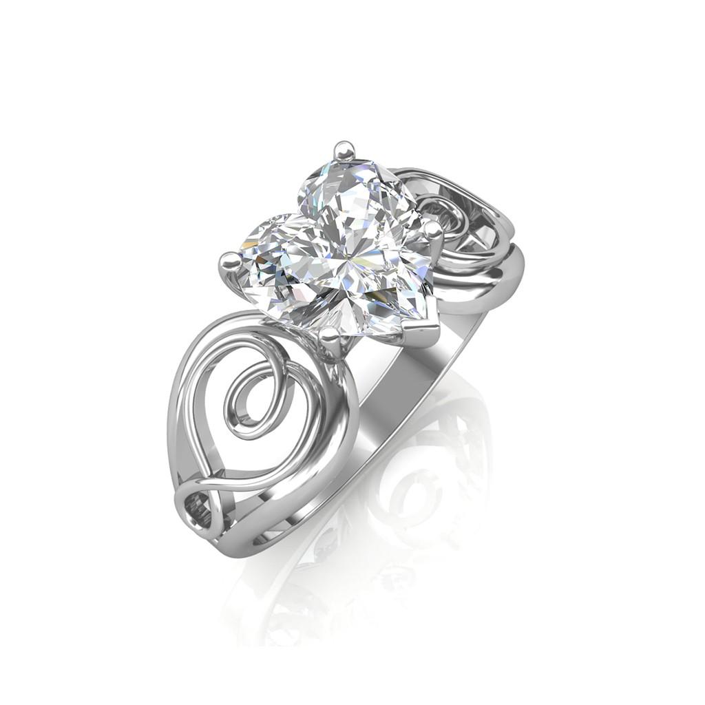 0.50 carat 18K White Gold - Gelsey Engagement Ring