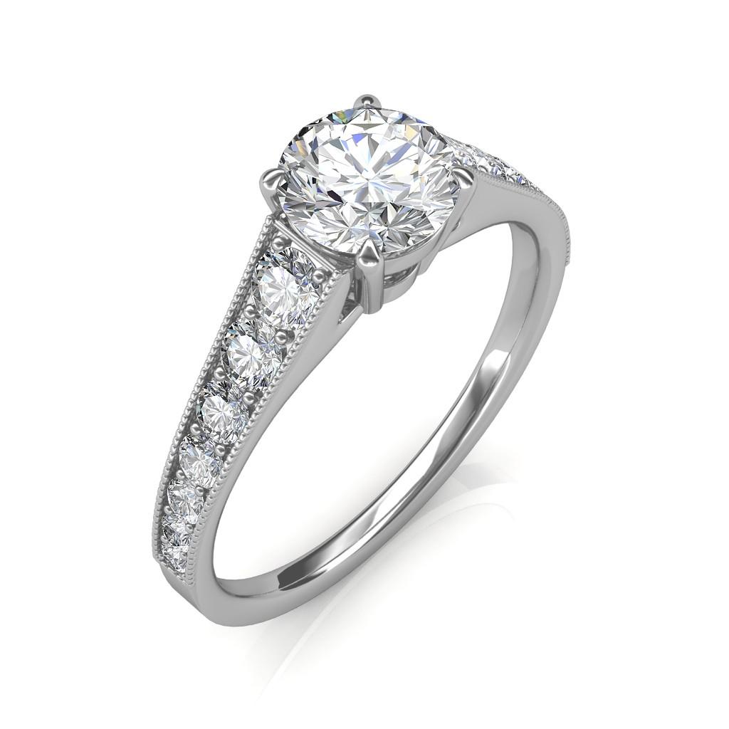 1.13 carat Platinum - Victoria Engagement Ring