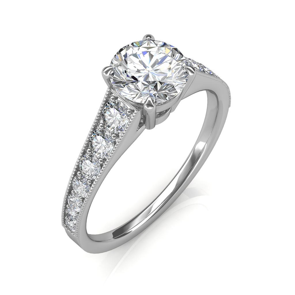 1.53 carat Platinum - Victoria Engagement Ring