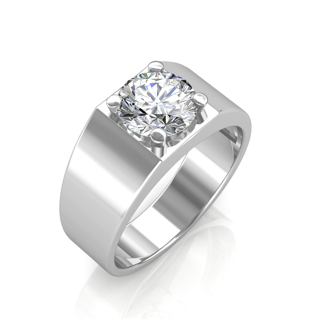 The Evergreen Solitaire Ring For Him Platinum 0 50 Carat Diamond Jewellery At Best Prices In India Sarvadajewels