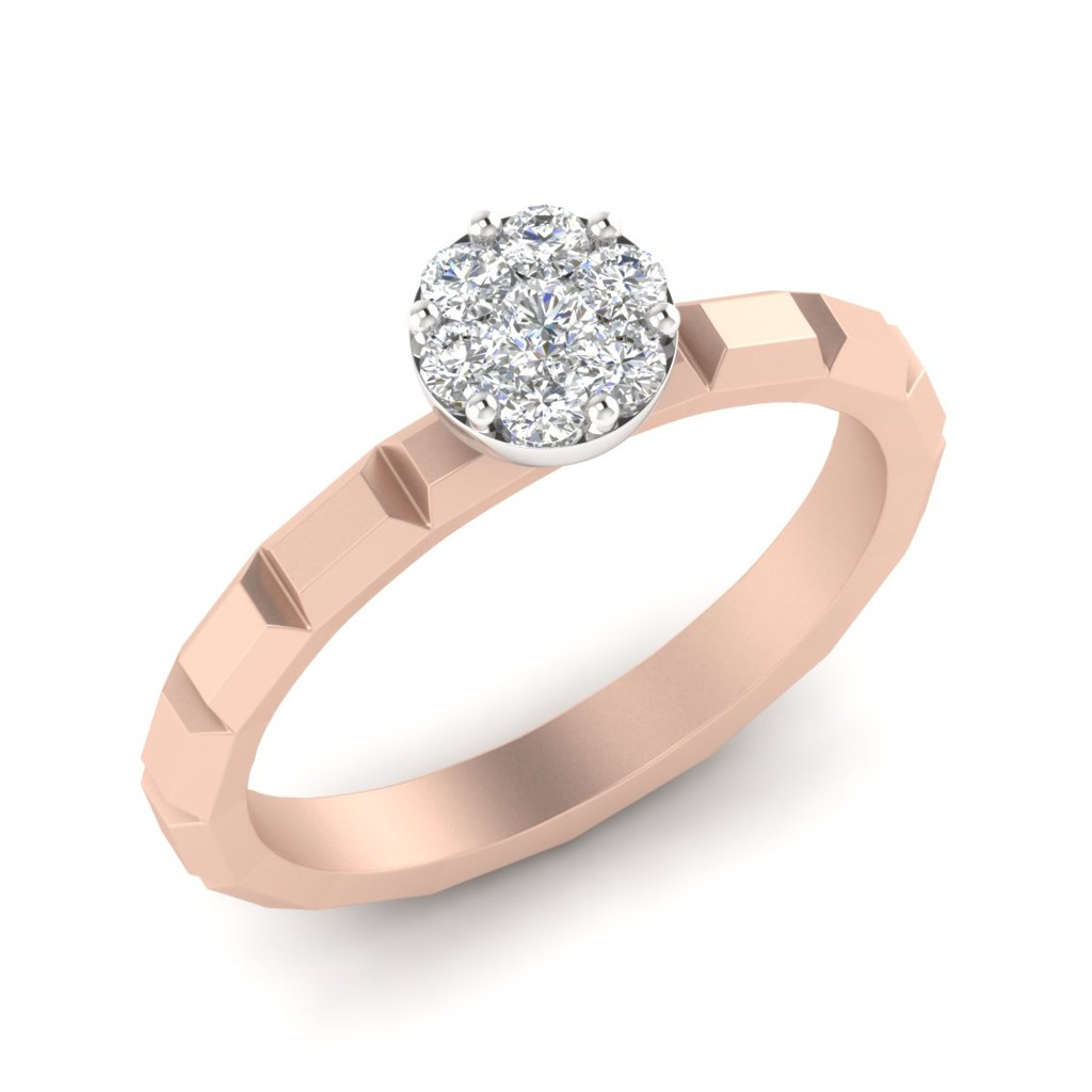 The Janet Ring Rose Gold Diamond
