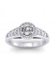 0.77 carat 18K White Gold - Azzario Engagement Ring