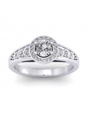 0.77 carat Platinum - Azzario Engagement Ring