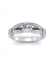 0.51 carat Platinum - Nelly Engagement Ring